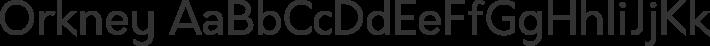 Orkney font family by Hanken Design Co.