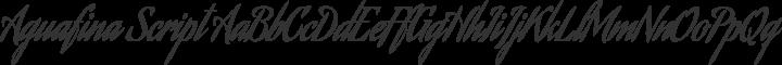 Aguafina Script Regular free font