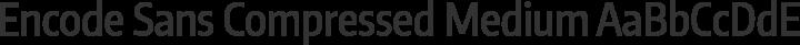 Encode Sans Compressed Medium free font