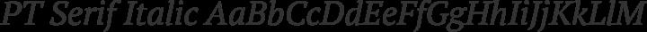 PT Serif Italic free font