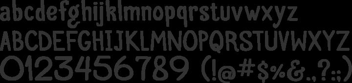 Palitoon Font Specimen