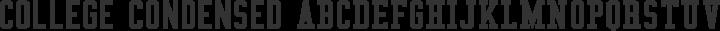 College Condensed Regular free font