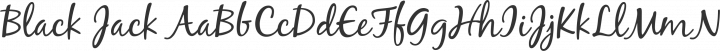 Black Jack Regular free font