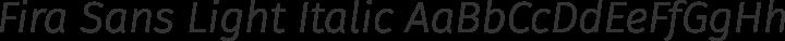 Fira Sans Light Italic free font