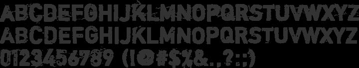 Shortcut Font Specimen