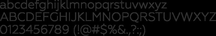 Geometria Font Specimen