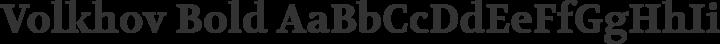 Volkhov Bold free font