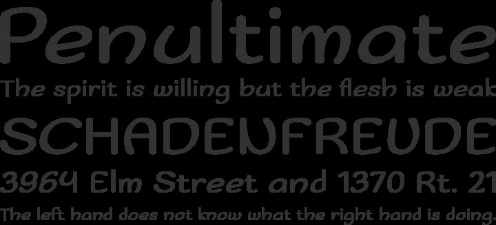 Sofadi One Font Phrases