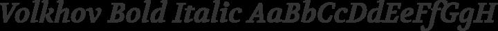 Volkhov Bold Italic free font