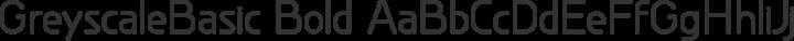GreyscaleBasic Bold free font