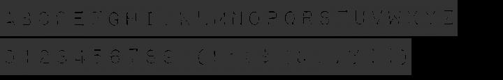 Impact Label Font Specimen