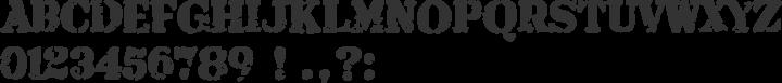 Armalite Rifle Font Specimen