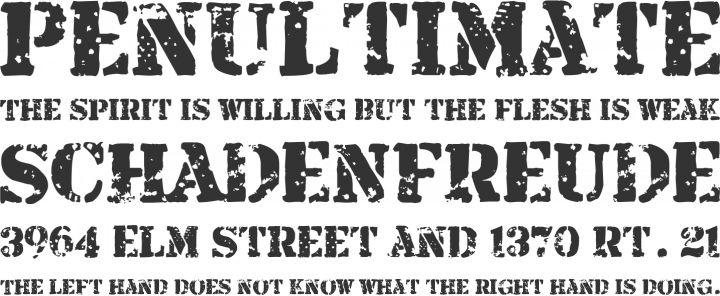 Armalite Rifle Font Phrases