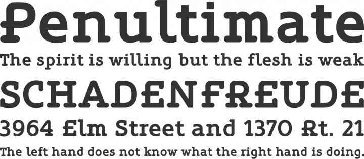 Oblik Serif Font Phrases