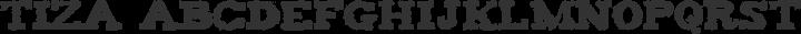 Tiza Regular free font