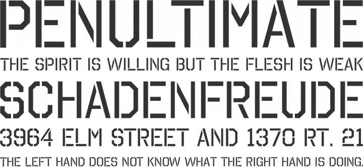 Octin Stencil Font Free by Typodermic | Font Squirrel