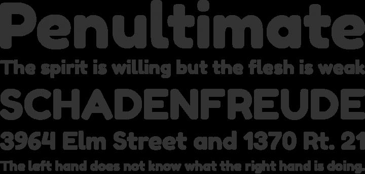 Fredoka Font Phrases