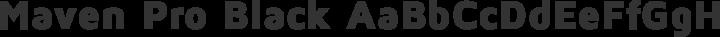 Maven Pro Black free font