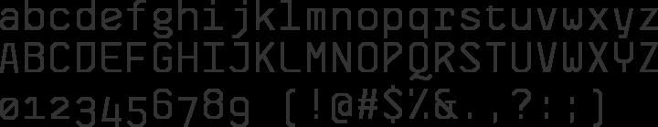 Skyhook Mono Font Specimen
