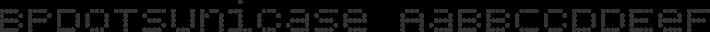 BPdotsUnicase font family by Backpacker