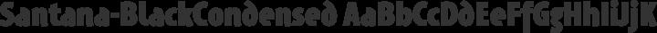 Santana-BlackCondensed Regular free font