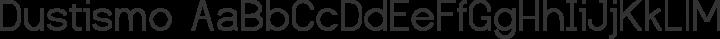 Dustismo Regular free font