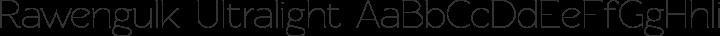 Rawengulk Ultralight free font