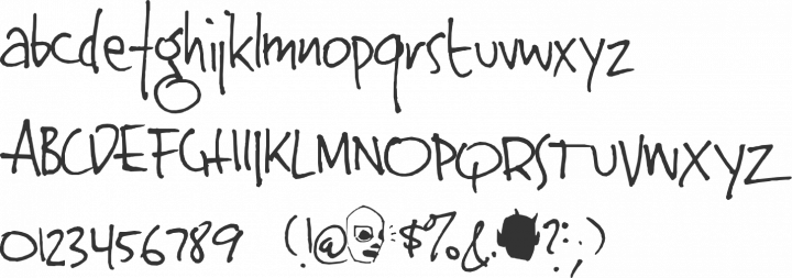 Jinky Font Specimen