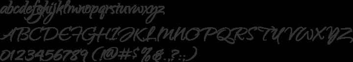Qwigley Font Specimen