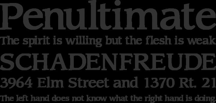 Sling Font Phrases