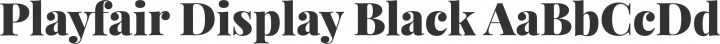 Playfair Display Black free font