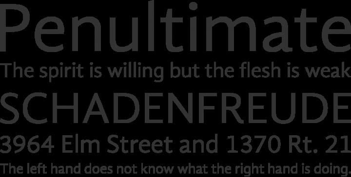 Gandhi Sans Font Phrases