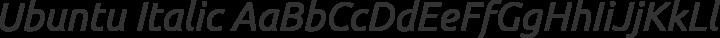 Ubuntu Italic free font