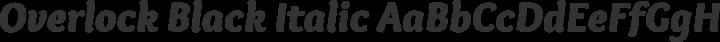 Overlock Black Italic free font