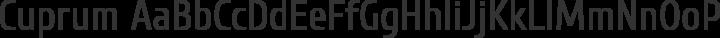 Cuprum Regular free font