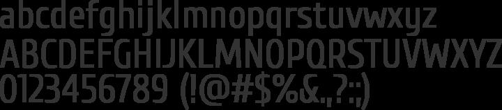 Cuprum Font Specimen