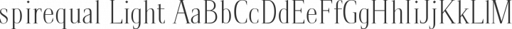 spirequal Light Regular free font