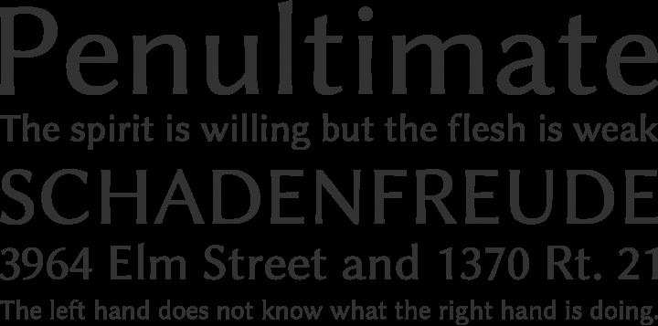 Linux Biolinum Font Phrases