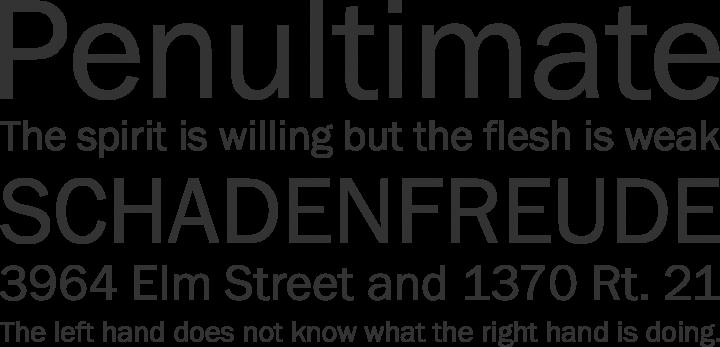 Franklin Gothic FS Font Phrases