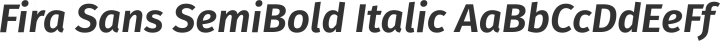 Fira Sans SemiBold Italic free font