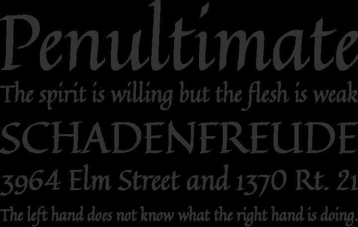 Quintessential Font Phrases