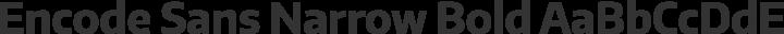 Encode Sans Narrow Bold free font