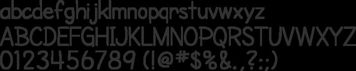 Cartoonist Hand Font Specimen