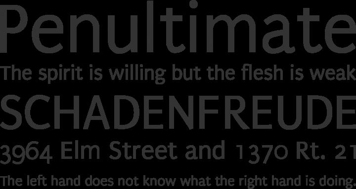 Puritan Font Phrases