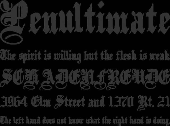 PlainBlack Font Phrases