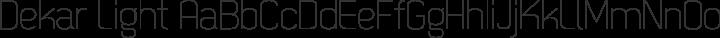 Dekar Light free font