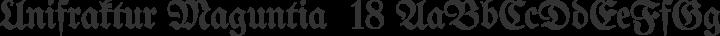Unifraktur Maguntia  18 free font