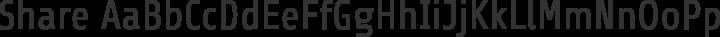 Share Regular free font