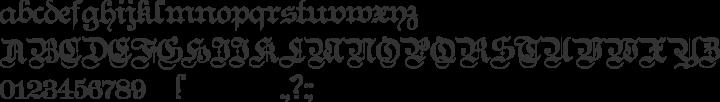 Teutonic No1 Font Specimen