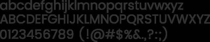Poppins Font Specimen